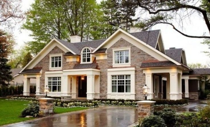 25 best ideas about brown brick exterior on pinterest Brick craftsman house