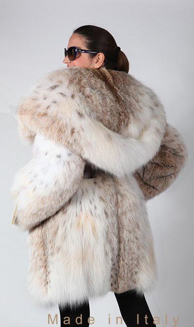 Hooded Lynx Fur Coat ooh my gosh need