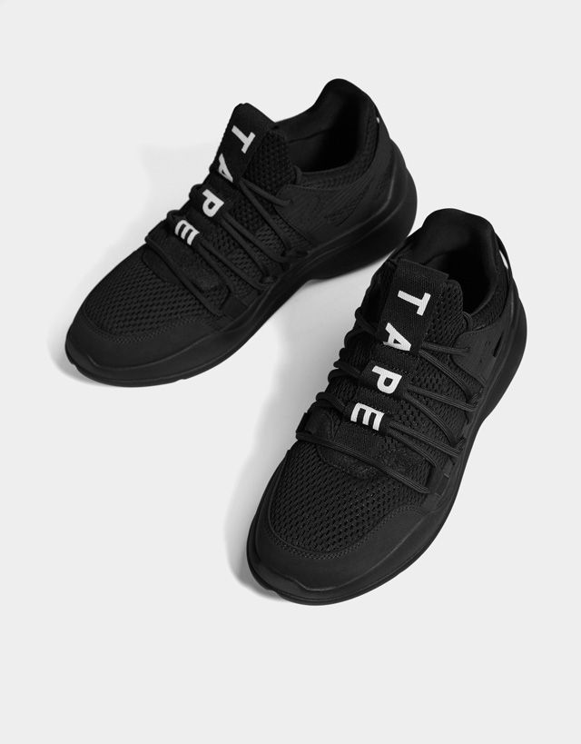 newest e4f7f 48341 Mesh trainers with stripes - Bershka  bershka  newin  trends  outfits  look   moda  fashion  shoes  zapatos  deportivas  sneakers  man  modern  trendy   looks ...