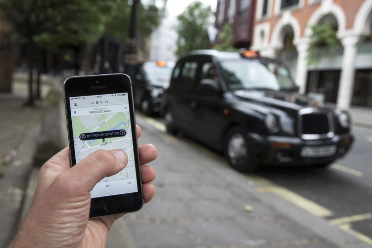 The taxi-booking mobile app company Uber said it experienced an 850 per cent increase new users today as London's black cabs staged a protest that brought gridlock to the city centre.