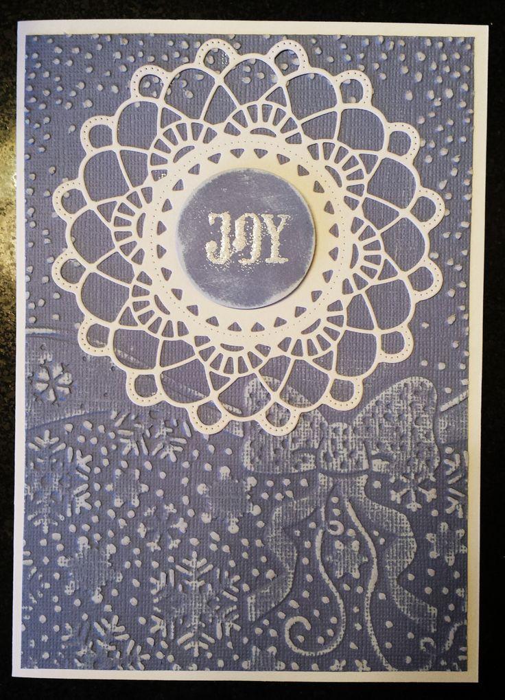 Snowflake Doily Embossed #Christmas #card  #TMCanada