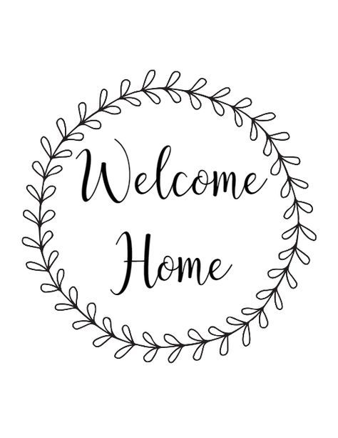photograph relating to Welcome Home Sign Printable referred to as Welcome Property Totally free Printable Freebies and Printables