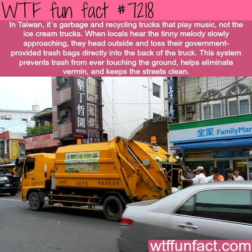 Taiwan's garbage trucks - WTF Fun Fact