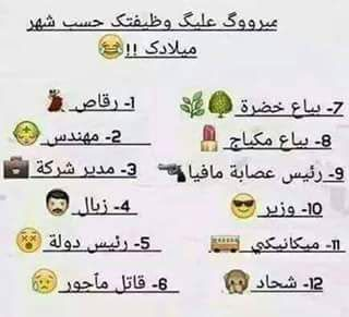 نتيجة بحث الصور عن لقبك على حسب شهر ميلادك Funny Arabic Quotes Words Quotes