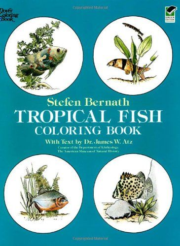 tropical fish coloring book dover nature coloring book