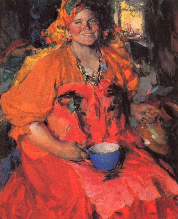 Архипов А.Е. - Девушка с кувшином. 1927. ГТГ