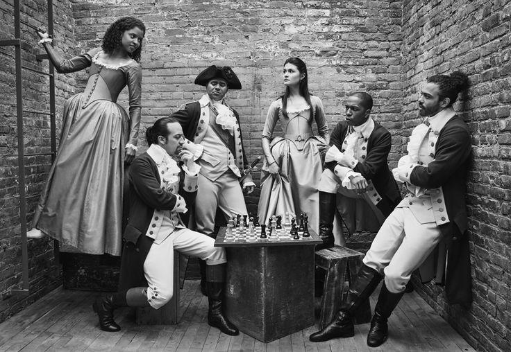 Hamilton, Angelica Schuyler, Alexander Hamilton, George Washington, Eliza Schuyler, Aaron Burr, Lafayette