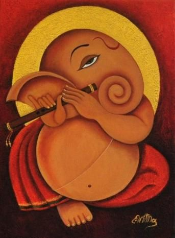 "Recently sold on IndianArtCollectors.com!  ""Ganesha"" by Anitha Praveen Acrylic On Textured Canvas, Size(inches): 17.5X23.5  See more artworks by Anitha Praveen at: http://www.indianartcollectors.com/artist/AnithaPraveen"