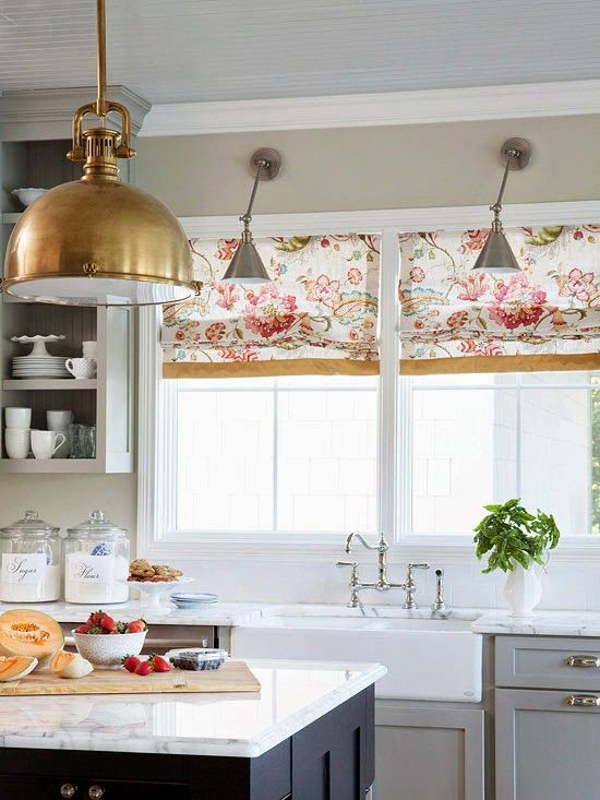 find this pin and more on kitchen curtain fabric ideas - Window Treatment Ideas For Kitchen