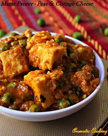 Aromatic Cooking: Matar Paneer/ Peas And Cottage Cheese Curry