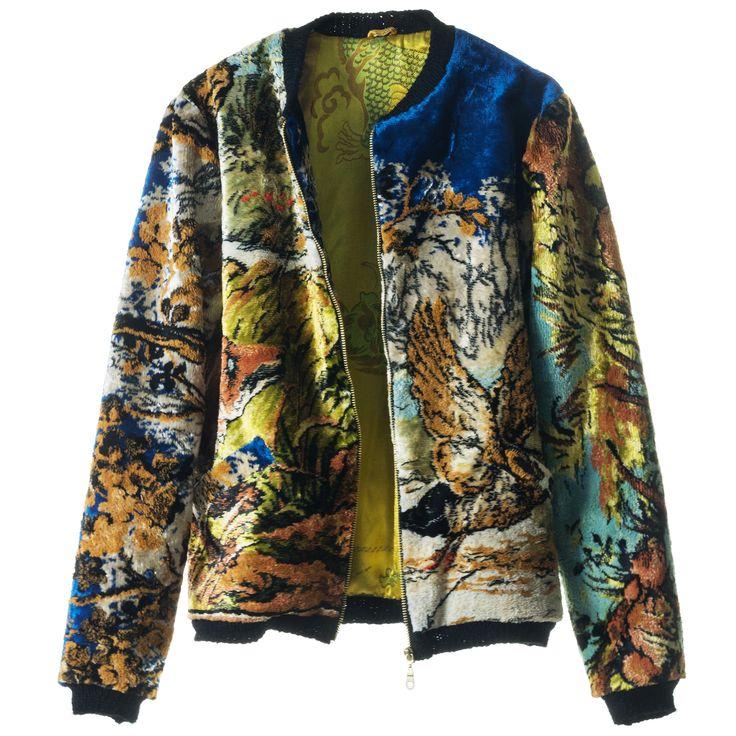 Jacket from carpet. Buy online at www.flyingpainter.com