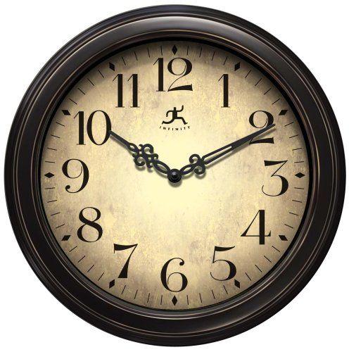 "Infinity Instruments Precedent Wall Clock Infinity Instruments 12"" diameter http://www.amazon.com/dp/B001EKLU40/ref=cm_sw_r_pi_dp_qN4Qtb0HREFNGTG0"