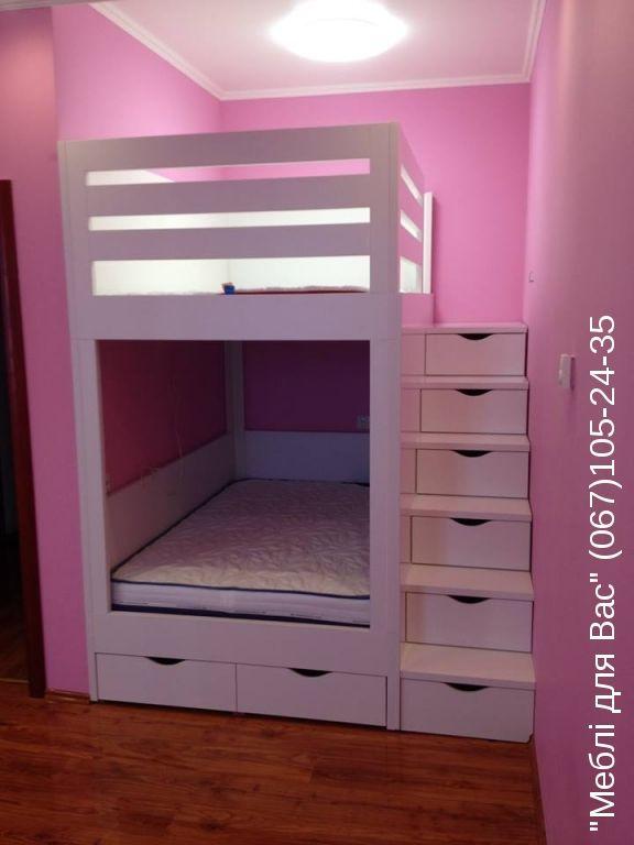 Двухярусная кровать для двоих детей под заказ