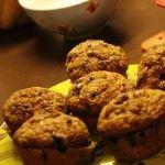 Čučoriedkové+muffiny