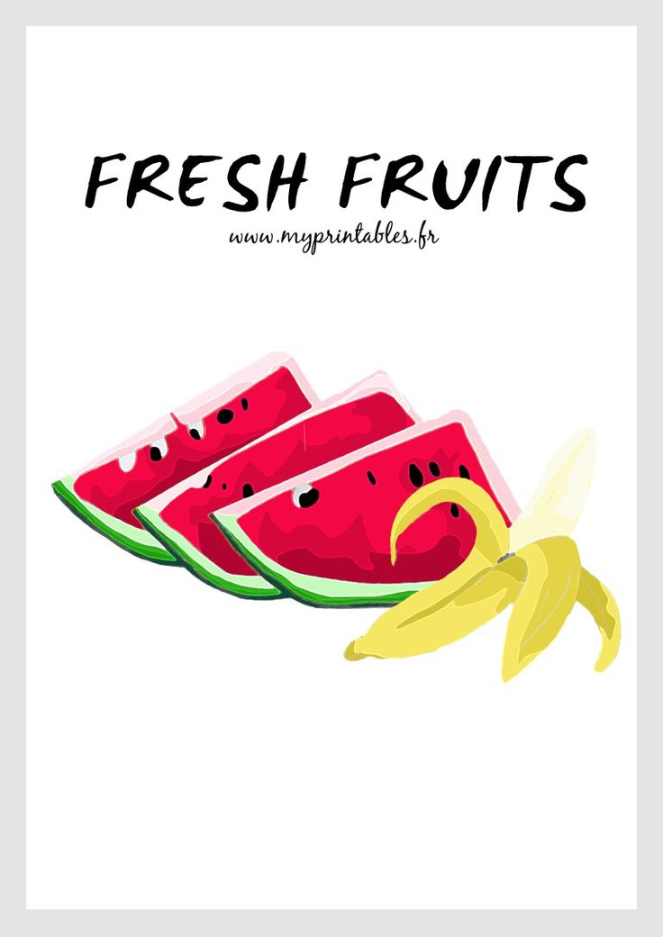 Fresh Fruits Poster FREE PRINTABLE www.myprintables.fr