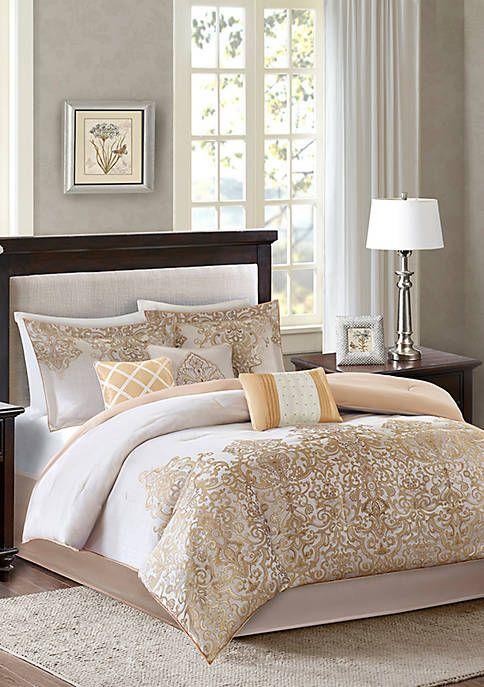Madison Park Vanessa7-Piece Gold Comforter Set