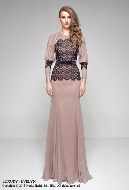 A lace top piece by Nurita Harith