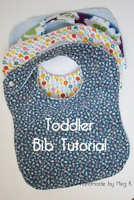 Handmade by Meg K: Toddler Bib Tutorial