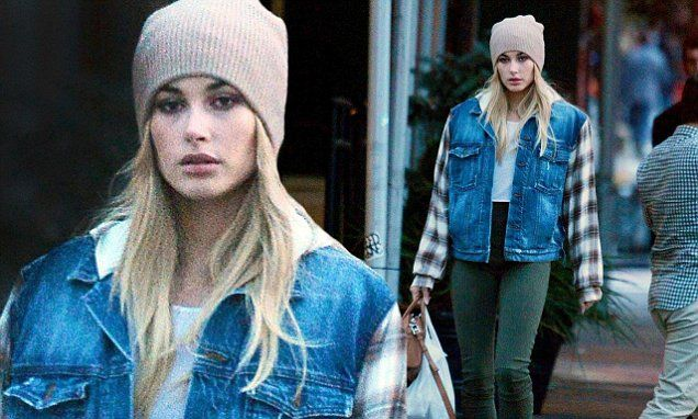 Hailey Baldwin dons beanie on Election Day stroll in NYC