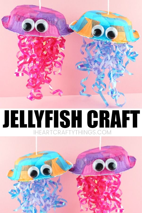 Colorful Jellyfish Craft For Kids Summer Crafts For Kids Ocean