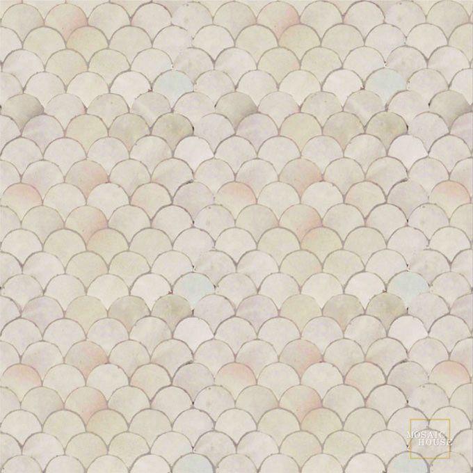 Fleurs 1 Mosaic Field Tile Moroccan
