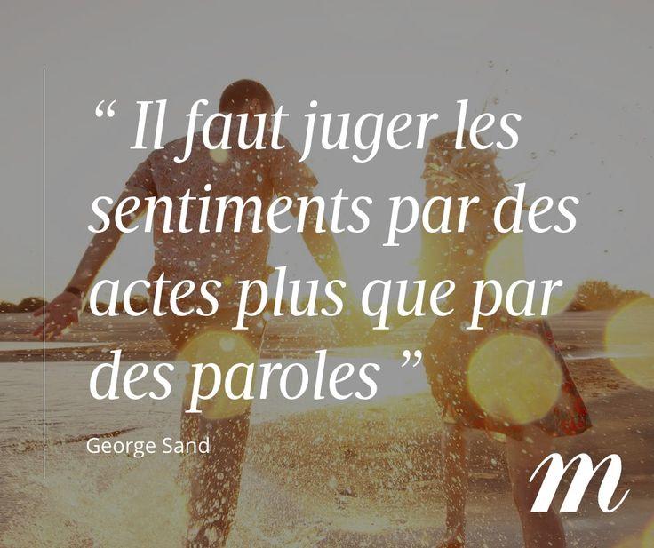 Citation George Sand, sentiments, amour