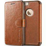 iPhone 6 Case, Wallet [Brown]