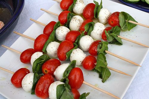How to Throw an Epic Housewarming Party: Caprese Skewers