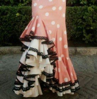Resultado de imagen de esquema de volantes en faldas flamencas