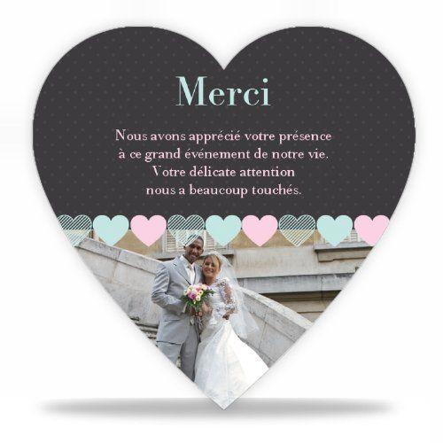 faire part moins cher remerciements mariage vintage ardoise avec photo carte simple - Carte De Remerciement Mariage Pas Cher