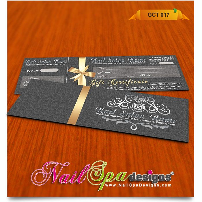 48 best Nail Spa Gift Certificates 001-025 images on Pinterest ...