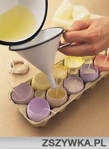 Zobacz zdjęcie pomysł na świeczki z jajek w pełnej rozdzielczości