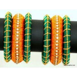 Bangle set made of silk thread-90