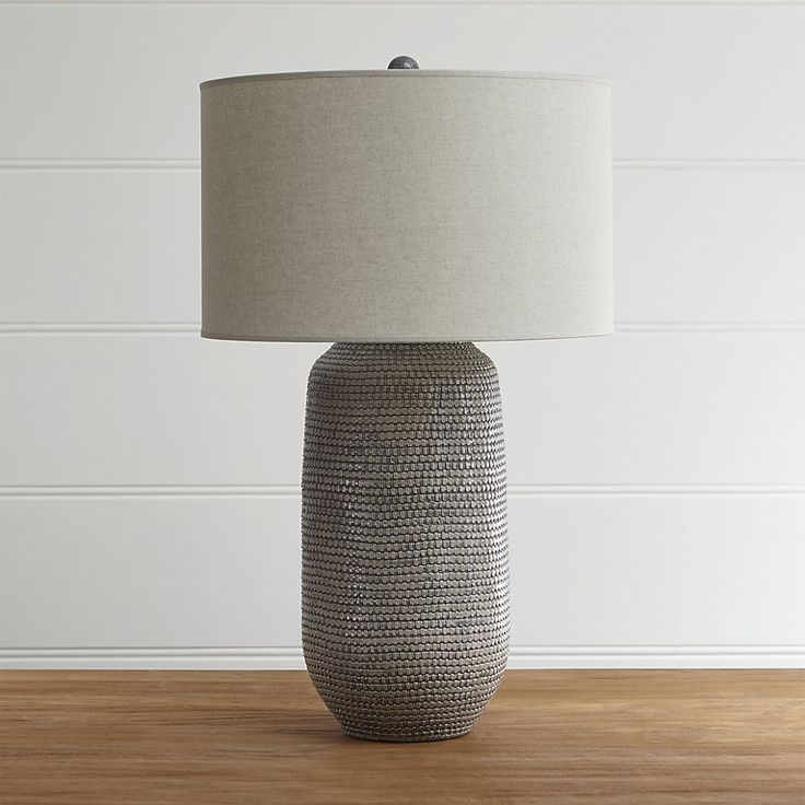 Cane Grey Table Lamp | Crate and Barrel