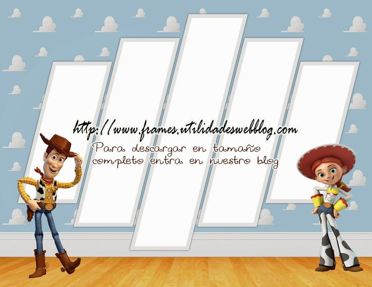 2 marcos para hacer fotomontajes de Woody y Jessie   Photo Frames