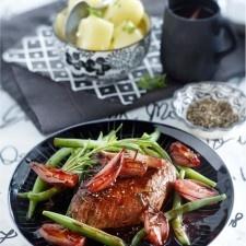 Biefstuk met sjalotten-portsaus