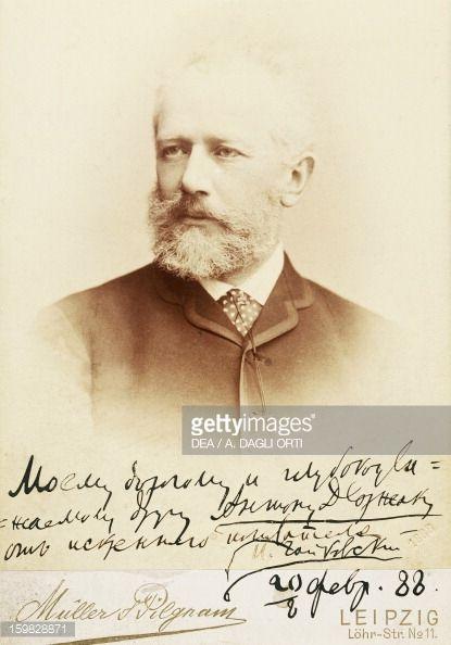 Tchaikovsky , Russian composer. Autographed photograph with his friend Antonin Leopold Dvorak (1841-1904). Prague, Muzeum Antonína Dvoráka