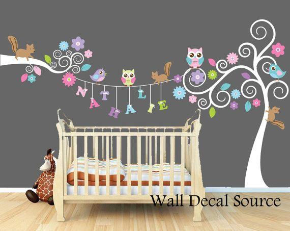 Nursery Wall Decals, Monogram Wall Decals, Personalized Wall Decals, Animal Wall  Decals, Nursery Art 4387