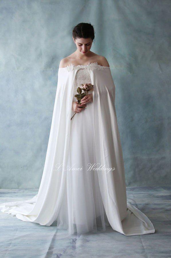 10++ Wedding dress capes ideas