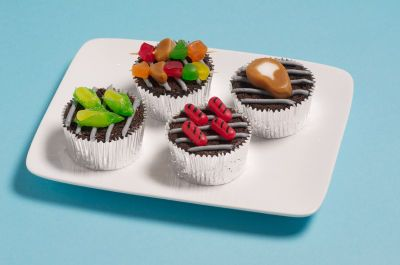 BBQ Cupcakes - Make sweet little BBQ inspired cupcakes for your next summer gathering.