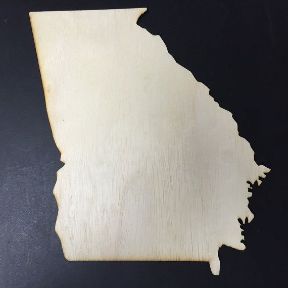 GA Georgia Wood Cutouts  Shapes for Projects or by siglaserdesigns