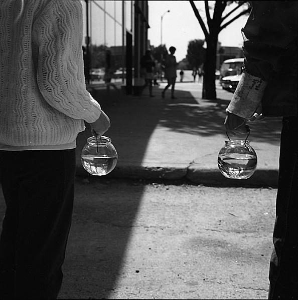 Vivian Maier  street photography New York et Chicago 120 000 clichés,  150 films stockés et oubliés.  John Maloof se donnera pour mission de faire reconnaitre cette photographe POST MORTEM amatrice pleine de talent, qui fait transparaitre l'ambiance des centres urbains américains comme personne