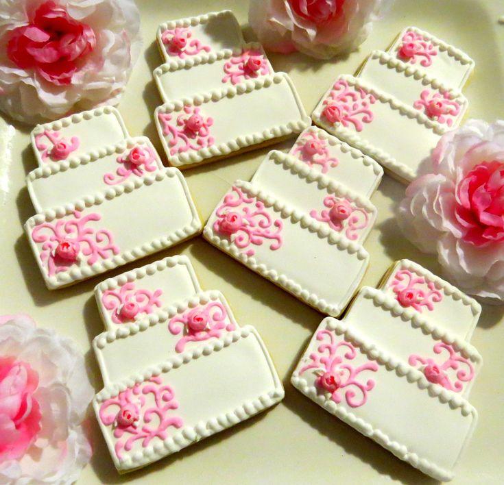 12 Decorated Sugar Cookies Wedding Cake Bridal Shower Favor