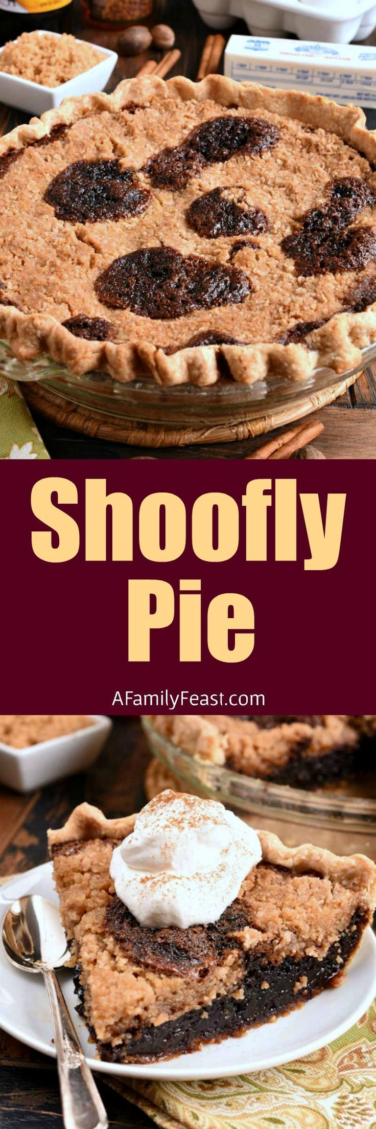 Shoo Fly Pie is a vintage molasses and crumb pie that is absolutely delicious! #pie #molasses #shooflypie #vintagerecipe
