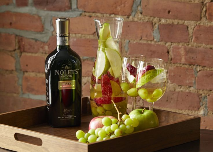 8 oz. NOLET'S Silver Gin 750 ml Dry White Wine 4 oz. White Grape Juice 4 oz. Sugar 4 oz. Sliced Seedless Grapes 1 Sliced Apple (Green or Red) 16 oz. Ginger Ale or Club Soda Dissolve sugar in a pitcher with white wine, NOLET'S Silver, and grape juice. Add grapes and apple slices and …