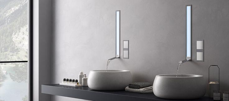 Più leggero dell'aria, il #design super minimale di #Aqualite di Newform nasconde nell'incasso del muro i miscelatori, alleggerendo e semplificando il concetto di rubinetto tradizionale. http://www.gasparinionline.it #casa #arredo #arredobagno #interiors #style #bagno #rubinetteira #rubinetti #brescia #gasparini