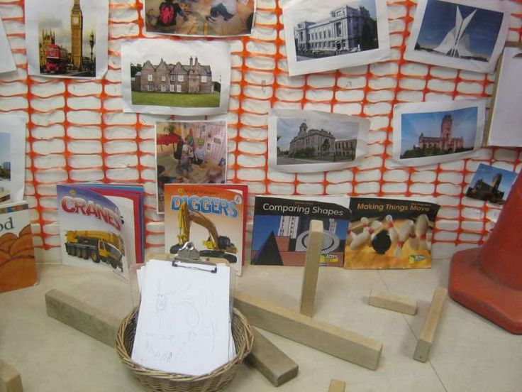 Photos of buildings have been added to the block play area at Kidsunlimited Broadgreen as well as clipboards to encourage purposeful writing