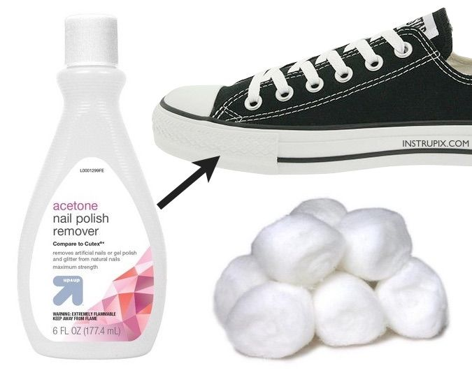 various colors 47ab9 95618 How to make the rubber soles on your converse or other shoes super white  and clean with one ingredient! This little trick takes less than 5 minutes!