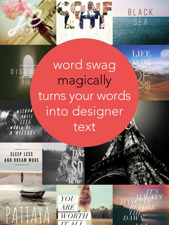 Word Swag - Cool fonts & typography generator by Oringe Inc.