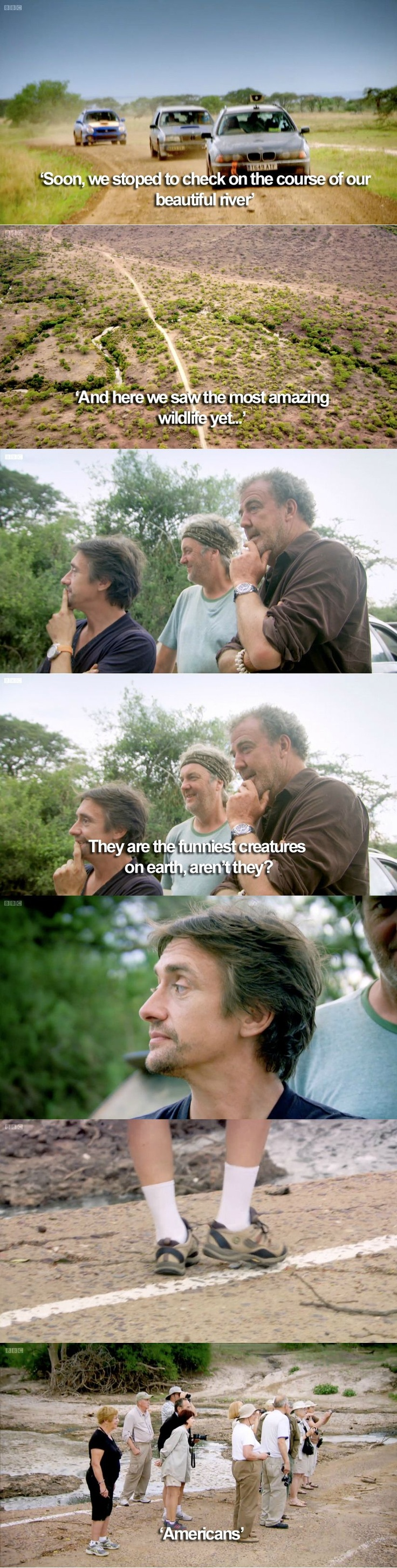 Yes, as an American, watching part 2 of the Africa Special last night, this is what made me laugh the most.